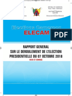 RAPPORT ELECTION PRESIDENTIELLE 2018