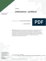 Maintenance préface MT9000