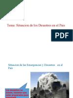 Situación de los Desastres en el País