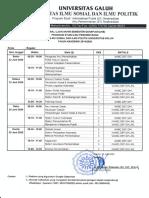 Jadwal UAS Reguler