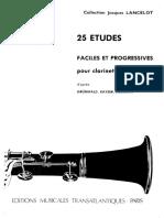 Lancelot, Jacques - 25 Études Faciles et Progressives