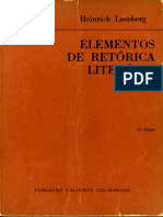 Heinrich Lausberg, Elementos de Retorica Literaria