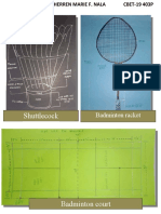 Drawing and Types of strokes & Serve in Badminton (Sherren Marie Nala)