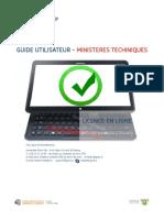 [e-Licence] Guide utilisateur sur la licence en ligne - Ministères techniques