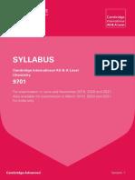 CIE Chem 9701 2019-2021 syllabus