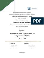 Automatisation et supervision d'un compresseur à 40 bar CEVITAL.pdf