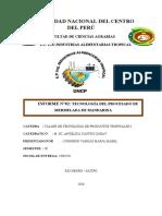 TECNOLOGÍA DEL PROCESADO DE MERMELADA DE MANDARINA