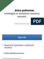 Mecánica Pulmonar en El Recién Nacido. Estrategias para la ventilación mecánica neonatal.