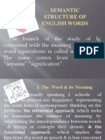 Semantic structure of English Words