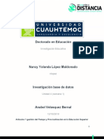 4.1 Investiación base de datos López Nancy