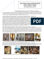 January and February 2011 issue of the Downtown Westminster Main Street News by Stan Ruchlewicz