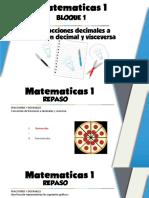 Secuencia 1 Fracciones y números con punto decimal