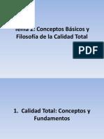 Tema 2. Conceptos Basicos y Filosofia de la Calidad Total