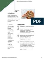Pizza _fat head_ cetogénica - Receta con video