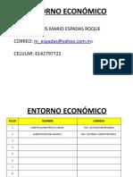 ENTORNO ECONÓMICO CLASES