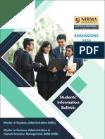 NIRMA-IMNU-Admission-Bulletin-2020