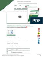 Techniques de mises en forme avancées avec Excel