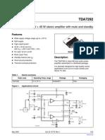 Tda7292 Datasheet