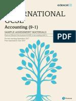 IGCSE Accounting (9-1) Sample assessment materials