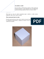 Como hacer un cubo de cartulina o cartón