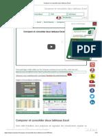 Comparer et consolider deux tableaux Excel