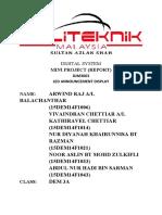DIGITAL SYSTEM(mini project report)