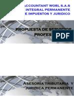 Propuesta Asesoria integral de impuestos y juridica