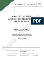 Acción Correctiva y Preventiva AP-852