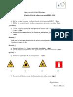 examen HSE