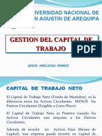 GESTION DEL CAPITAL DE TRABAJO