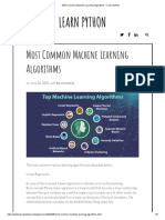 Most Common Machine Learning Algorithms _ Learn Python