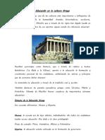 Educación en la cultura Griega