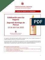 CELEBRAR Y ORAR EN TIEMPO DE PANDEMIA - II domingo de Pascua