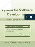 Python for Software Development