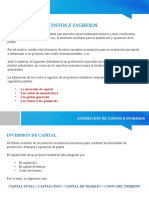 PIN - Presentacion Nº4 - ESTIMACIÓN DE COSTOS E INGRESOS