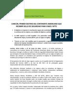 022 CANCÚN, PRIMER DESTINO DEL CONTINENTE AMERICANO QUE RECIBIRÁ SELLO DE SEGURIDAD PARA VIAJES_WTTC