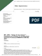 MP - GPE -  Instalação do Protheus 12.1.23 (Recursos Humanos Protheus) SOMENTE COM SQL 201