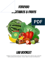 fod2180 vegetables and fruits labs
