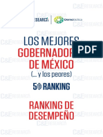 5º Ranking de Desempeños de los Gobernadores