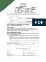 UT Dallas Syllabus for stat1342.001.11s taught by Manjula Foley (mxf091000)