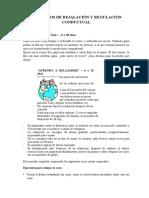 EJERCICIOS DE REJALACIÓN Y REGULACIÓN DE LA CONDUCTA -