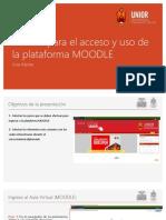 Guía de acceso a Plataforma Virtual UNIOR