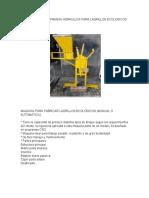 Estado Del Arte Prensa Hidraulica Para Ladrillos Ecologicos