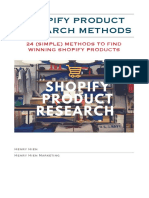 HENRY HIEN -- SHOPIFY PRODUCT RESEARCH METHODS