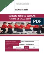 PORTAFOLIO DE EVIDENCIAS CIERRE DE CICLO 2019-2020 VANESSA MENDOZA