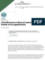 Checklist para evaluar el control de fraude en su organización - Buenas prácticas de auditoría y control interno en las organizaciones _ Blogs Portafolio.pdf