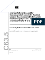 - ANSI IEEE C63.5 ( [Electromagnetic Compatibility-Radiated Emission Measurements in Electromagnetic Interference -EMI- Control-Calibration of Antenas. 9 kHz to 40 GHz] [EMC] [73pages]-ieee (2004)