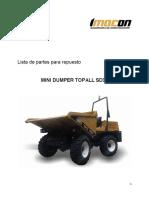 Lista de partes para repuesto MINI DUMPER TOPALL SD30.pdf