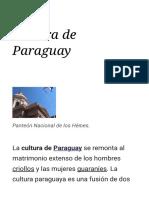 Cultura de Paraguay - Wikipedia, la enciclopedia libre