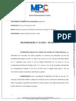 Ministério Público de Contas - Recomendação n. 01-2020